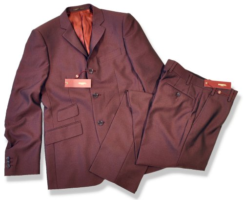 New Merc Mod 2 Two Tone Tonic Suit Burgundy Wine 38 Chest / 32 Waist