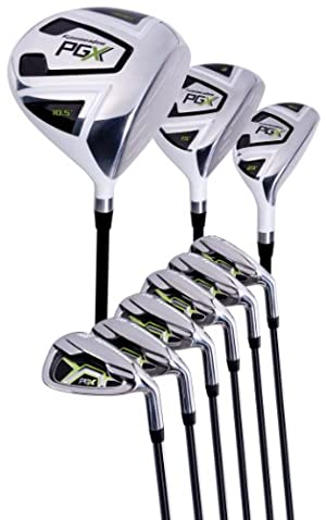 Pinemeadow Men's PGX Golf Set-Driver, 3 Wood, Hybrid, 5-PW Irons