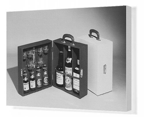 Canvas Print Of Portable Drinks Cabinet front-573607