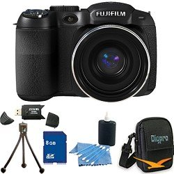 FinePix S2950 14 MP 18x Wide Angle Zoom 3.0 LCD Digital Camera, 720p HD Movie, Dual Image Stabilization, Full Manual Controls. Bundle Includes 8GB Memory Card, Card Reader, Deluxe Carrying Case, Mini Tripod, and Lens Cleaning Kit.