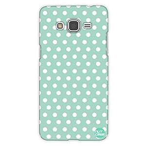 Designer Samsung Galaxy Grand Prime back Cover Nutcase -Mint Polka Dots