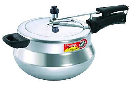 Prestige Nakshatra Plus Handi Aluminium 5 L Pressure Cooker (Induction Bottom, Inner Lid)