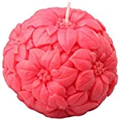 Orlando's Decor Candle Red Carved Ball Candle