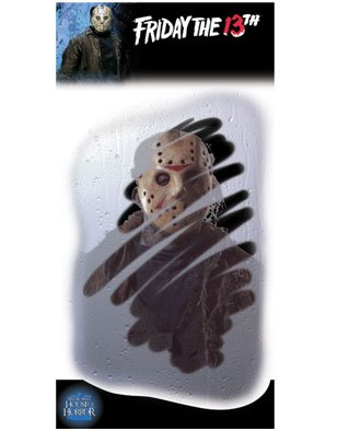 Jason Voorhees Scary Face Demented Mirror Window Decal