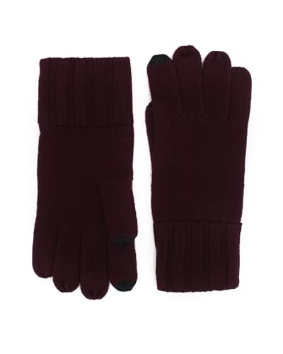 Amicale Men's Touch Tech Knit Gloves  [Wine]