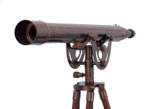 """Floor Standing Antique Copper Anchormaster Telescope 50"""" - Vintage Telescope"""