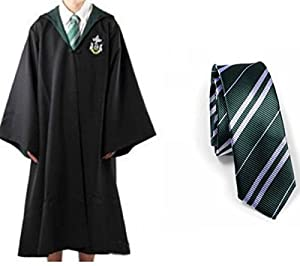 Harry Potter Youth Adult Robe Cloak Tie Slytherin School S with Free Letter