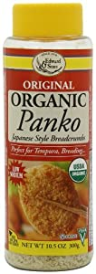 Edward & Sons Organic Panko, Japanese Style Breadcrumbs, 10.5-Ounce Canisters (Pack of 6)