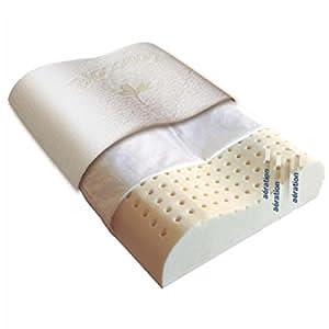 Biotex CERVIBIOCOTON6040 Ergonomique Cervilux Oreiller Latex Blanc