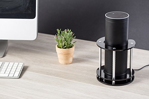 Acrylic Speaker Stand for Amazon Echo, UE Boom and Other Models - Protect and Stabilize Alexa by Wasserstein (Black) (Black Acrylic Stand compare prices)