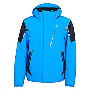 Spyder Men's Alyeska Jacket, Brilliant Blue/Black, X-Large