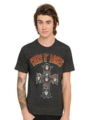 Guns N' Roses Cross Logo Rock T-Shirt for Men - XS to 2XL