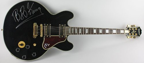"""B.B. King Autographed """"Gibson"""" Epiphone Lucille Guitar"""