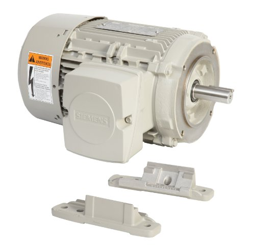 Siemens 1Le21212Ab114Ea3 7 5-Hp 1800 Rpm 208 230/460-Volt 213Tc General Purpose Electric Motor Nema Premium Efficient Aluminum Frame, Aluminum Rotor