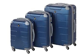 Sizeoßstadtkoffer Hard Shell Luggage Set New York 3 Size M + L + Xl, 55 + 65 + 75 Cm, 55 + 85 + 130 Lite
