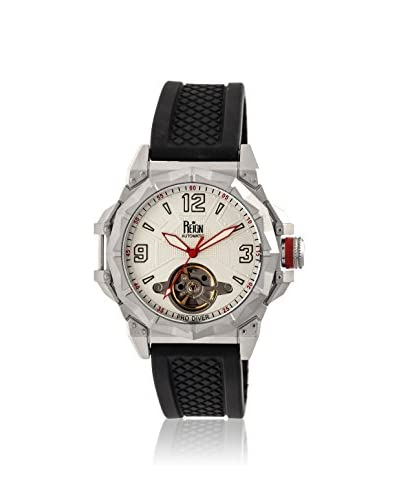 Reign Automatic Men's Hapsburg Black/Silver Silicone Watch