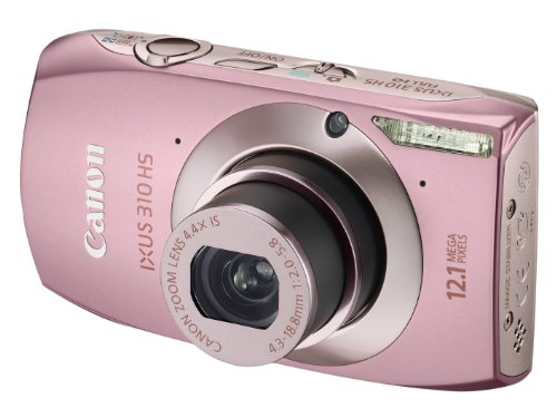 Canon IXUS 310 HS Digital Camera - Pink (12.1MP, 4.4x Optical Zoom) 3.2 inch Touchscreen LCD