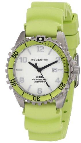 Momentum  1M-DV07WL1L - Reloj de cuarzo para mujer, con correa de goma, color verde