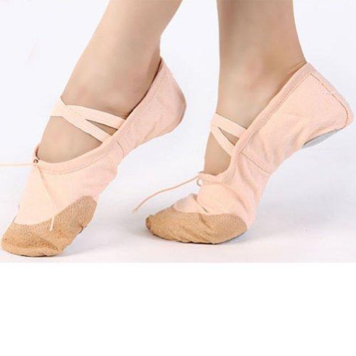 AutoM New Child Girls Womens Black Red Fleshcolor Slippers Fitness Ballet Dance Shoes Fleshcolor 29