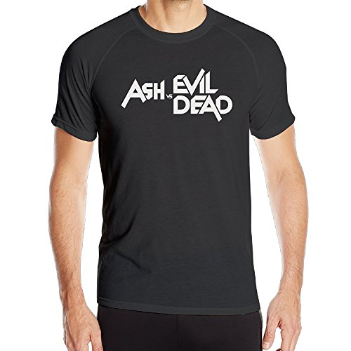 PTR Men's Quick Dry Ash Vs Evil Dead Gym Tee Size M Black