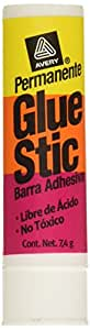 Avery Clear Application Permanent Glue Stic, 0.26 ounces, Stick (00166)