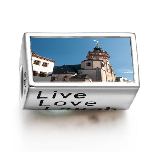 SoufeelonlineTower of Gothic St Nicholas Church photo Live Love Laugh European charm bead Fit Pandora Chamilia Biagi beads Charms Bracelet