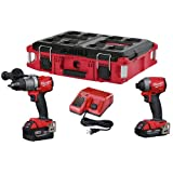 Milwaukee 2997-22CXPO Lithium-Ion Cordless Brushless Hammer Drill/Impact Combo Kit, Red (Color: red)