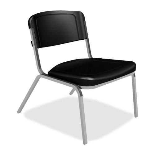 Iceberg 64021 - Rough N Ready Big & Tall Stack Chair, Resin, Black, 4/Carton front-263571