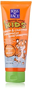 Kiss My Face Kids 2 In 1 Shampoo & Conditioner, Orange U Smart, 8 -Ounce Tubes (Pack of 3)