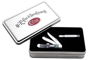 Case Cutlery 06036 Case Mini Trapper Knife, Kentucky Bluegrass Bone