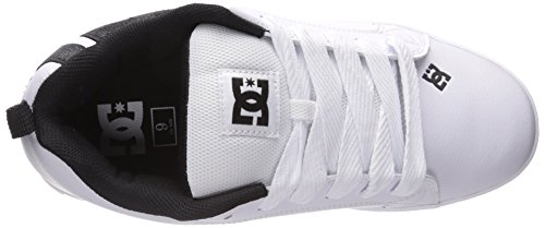DC Men's Court Graffik SE Skate Shoe, White/Grey/Black, 12 M US