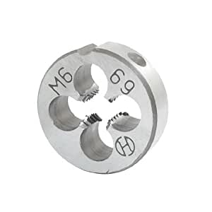 Round Shaped 20mm Outside Dia M6 Coarse Threading Cutting Die