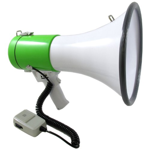 Professional Megaphone Blowhorn With Siren, Bluetooth, Recording Function, Usb / Sd Reader And Aux In Jack (No Rechargeable Battery Included)