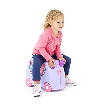 Trunki Ride-On Suitcase Children's Luggage, 18 Litres, Lilac by Trunki
