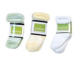 Kushies 3pk Socks - Green/yellow/white