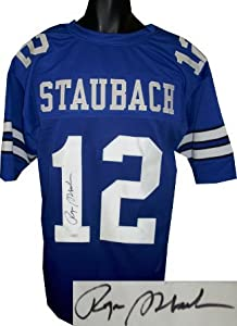 Roger Staubach signed Dallas Cowboys Blue TB Prostyle Jersey- JSA Hologram by Athlon Sports Collectibles