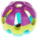 Alcoa Prime Pet Parrot Toy Colorful Bird Bell Ball For Parakeet Budgie Cockatiel Balls Rabbit Cat Hamster*Parrot...