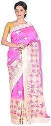 Sree Howrah Stores Women's Art Silk Saree with Blouse Piece (Pink)