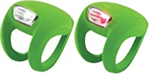 Knog Frog Strobe Twinpak - Headlight & Taillight combo Lime Bodies. BE SAFE - BE SEEN !