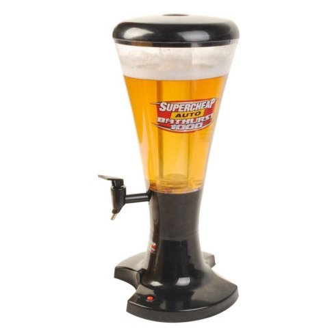 3L Cold Draft Beer Tower Dispenser Plastic with LED Lights (Soda Can Ashtray compare prices)