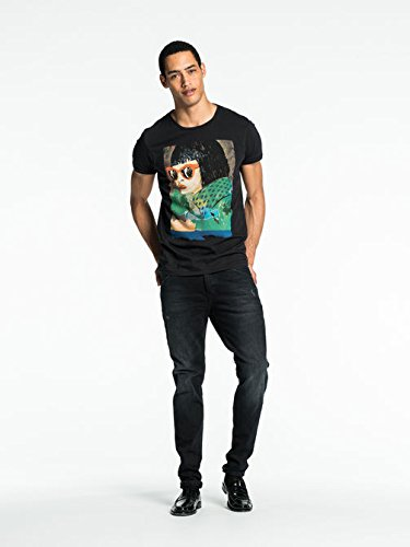スコッチ&ソーダ Colourful Artwork T-Shirt [COLOR: ブラック ][並行輸入品]