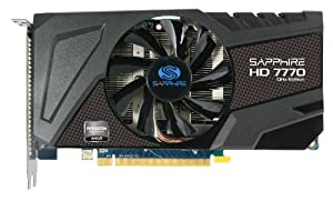 Sapphire 11201-00-20G Radeon HD 7770 GHZ 1GB DDR5 HDMI / DVI-I / Dual Mini DP PCI-Express Graphics Card