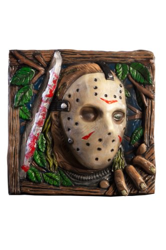 Friday the 13th Wall Dcor, Jason Vorhees, 13-Inches x 13-Inches