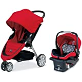 Britax 2013 B-Agile and B-Safe Travel System, Red (Prior Model)