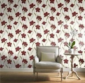 Gran Deco Vilamoura Wallpaper - Red from New A-Brend