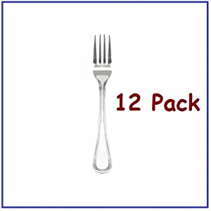 1 Dozen Salad Forks Legend Flatware with Bright Finish! Heavy Weight Flatware *Great... by Chefs Pal