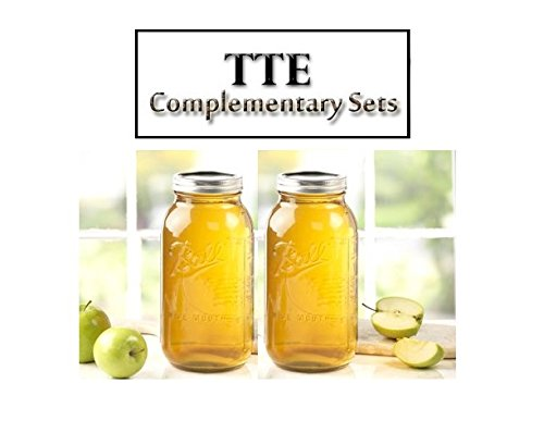 2ct 64oz (2 Qt) Wide Mouth Ball Mason Canning w/ Lid & Band Preserving - 2 Jars by TTE
