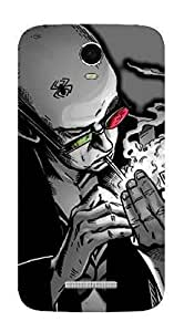 UPPER CASE™ Fashion Mobile Skin Vinyl Decal For Micromax A120 Canvas 2 Colors [Electro...