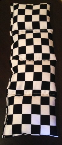 Little Bag Of Comfort Black And White Checkered Heating Pad