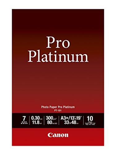 Canon Photo Paper Pro Platinum, 13 x 19 Inches, 10 Sheets (2768B018)